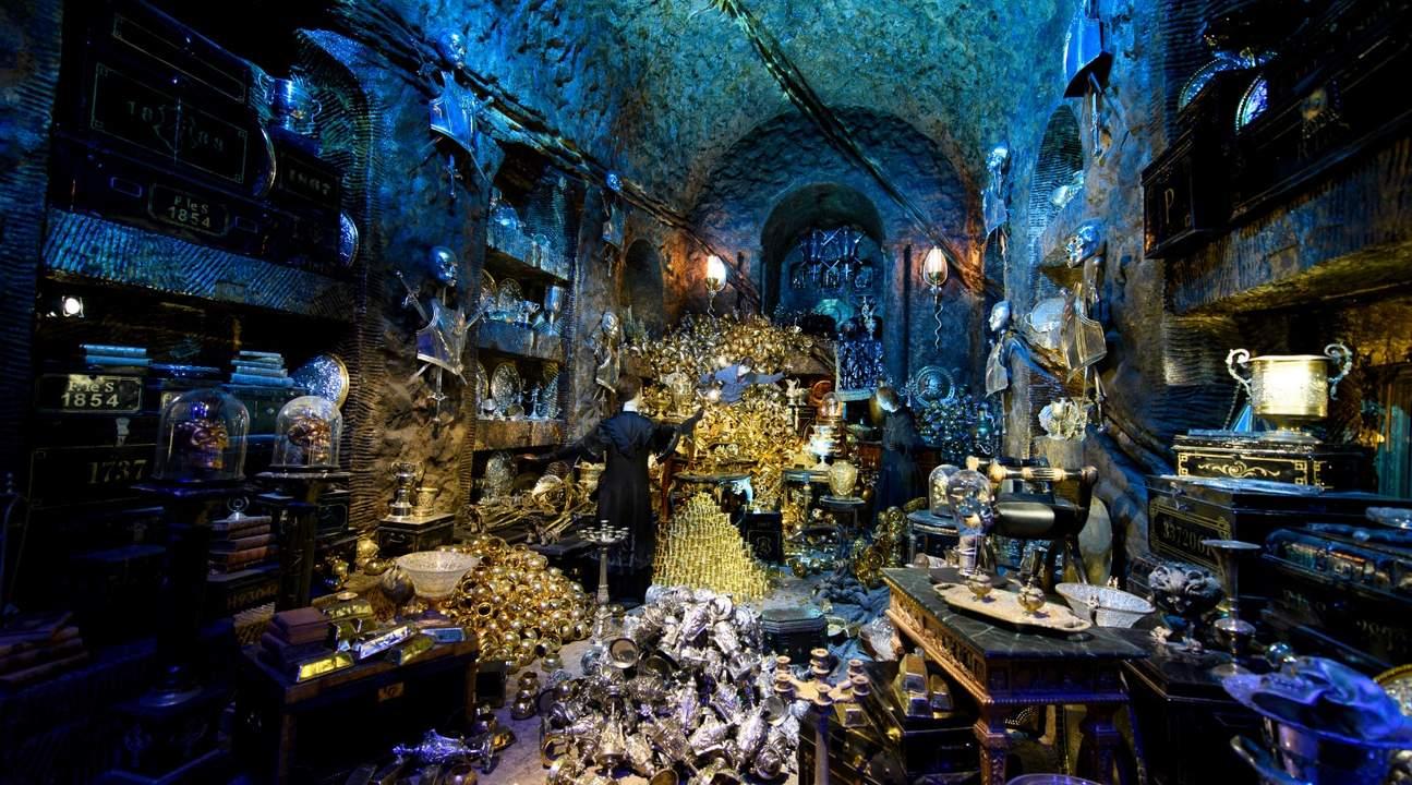 ワーナー・ブラザーズ・スタジオ・ツアー・ロンドンのグリンゴッツ魔法銀行の貴重品保管室